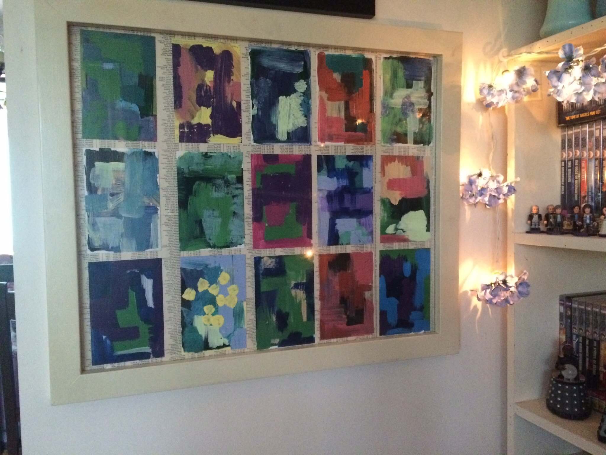 Upcycled abstract art project aixie 39 s space for I need art for my walls
