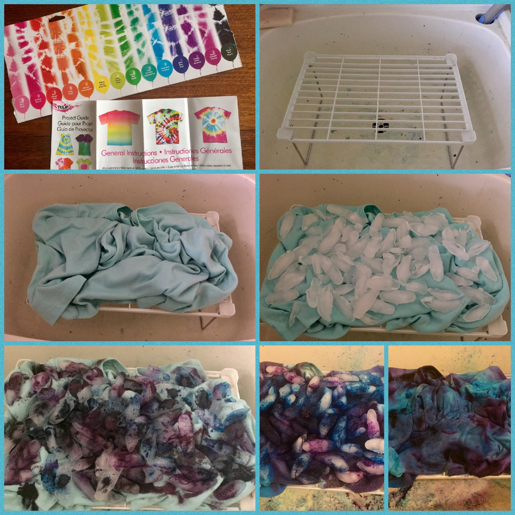 Ice Dyeing (and a little more tie dyeing)