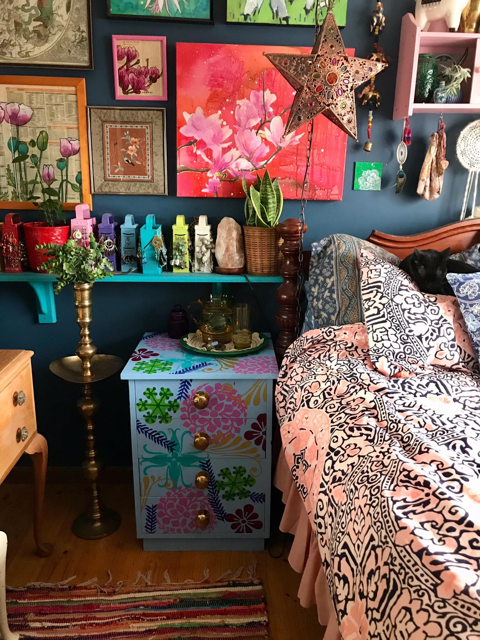 Stencilled Bedside